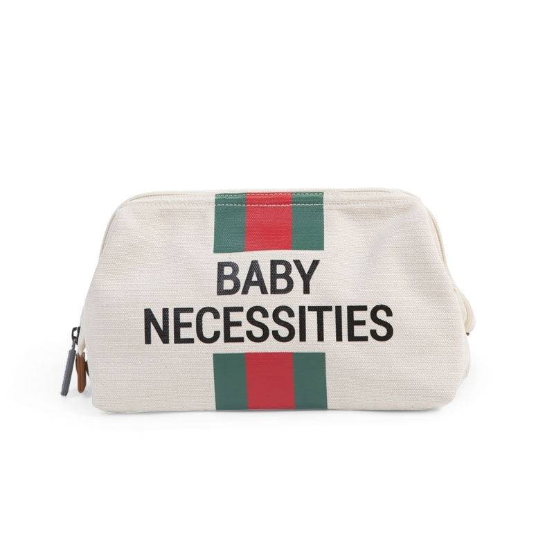 Childhome Νεσεσέρ Baby Necessities Off White Stripes Green/Red