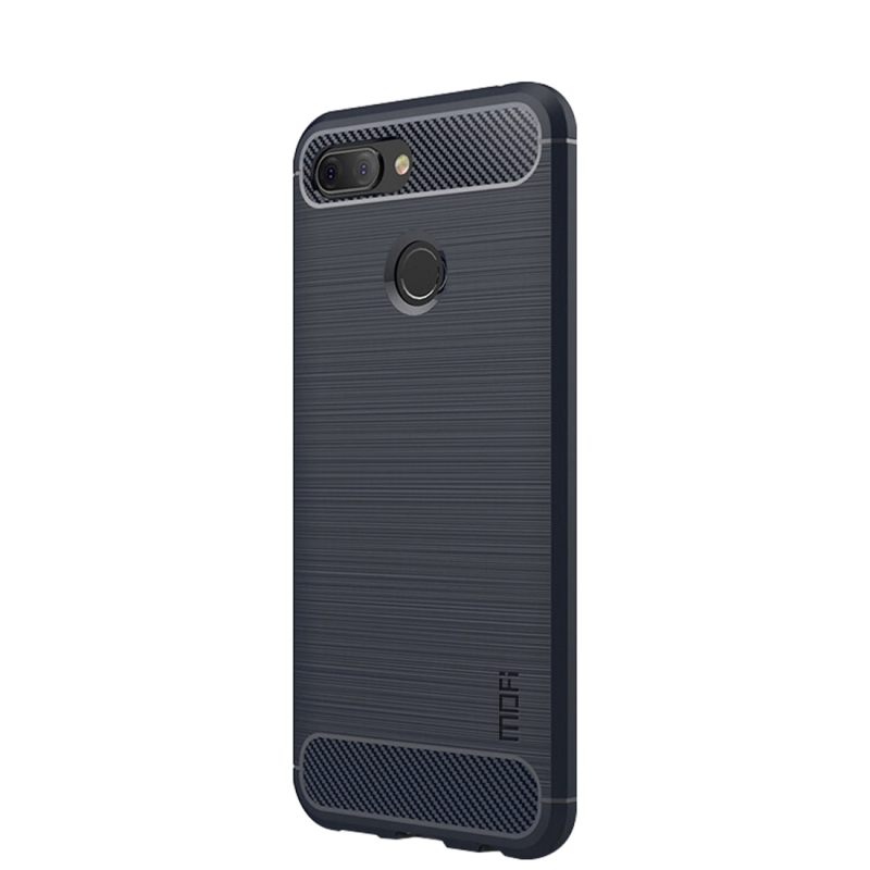 MOFI Brushed Texture Carbon Fiber Soft TPU Case for Xiaomi Mi 8 Lite (Blue) (MOFI)