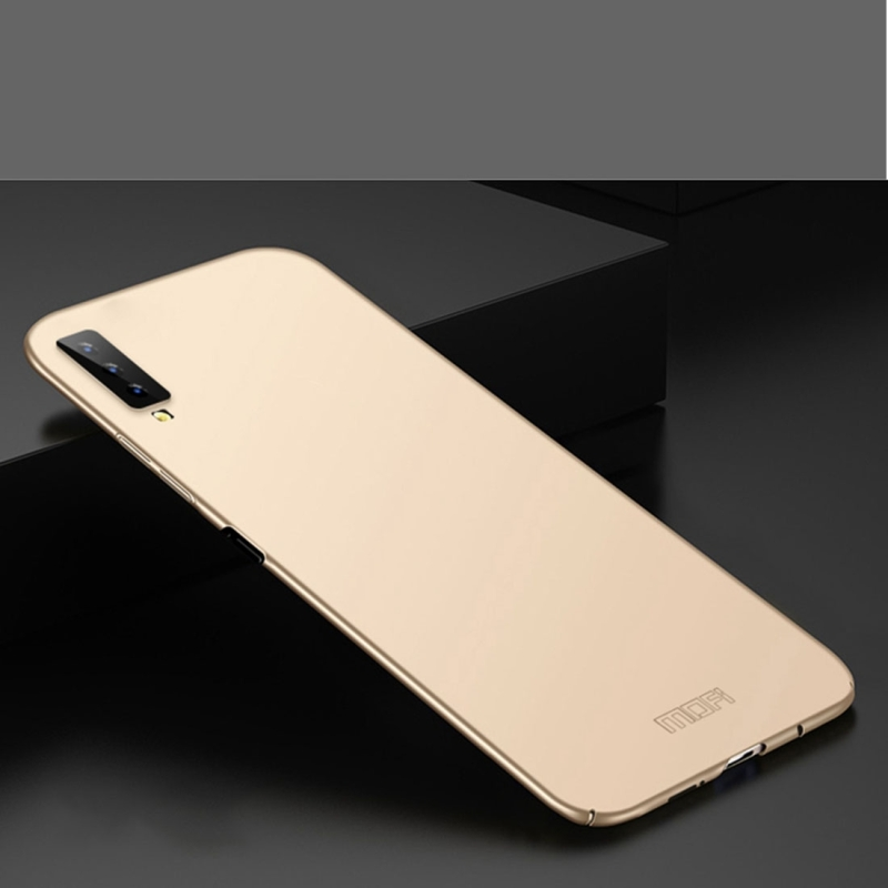 MOFI Back Camera Protective PC Back Case for Galaxy A7 (2018) (Gold) (MOFI)