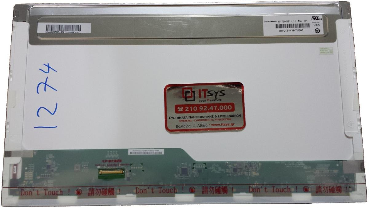 N173HGE-L11 17.3 1920x1080 WSXGA FHD LED 40pin (Κωδ. 1274)