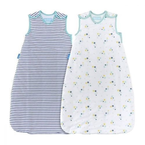 GroBag Πακέτο 2 Υπνόσακοι 2.5 tog 18-36 μηνών Starry Night - Wash & Wear