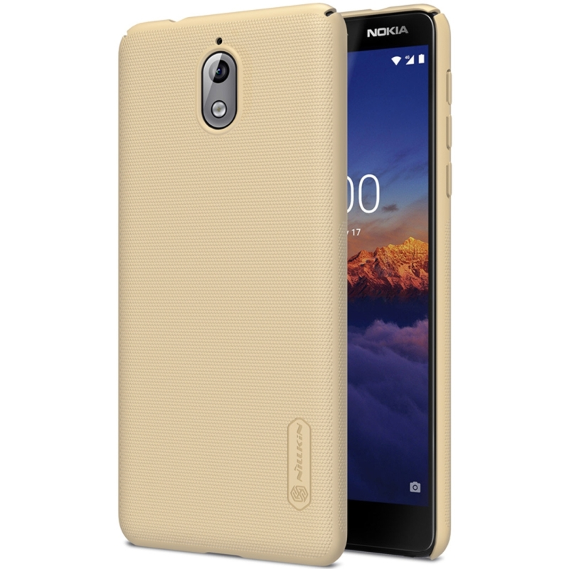 NILLKIN Frosted Concave-convex Texture PC Case for Nokia 3.1 (Gold) (NILLKIN)