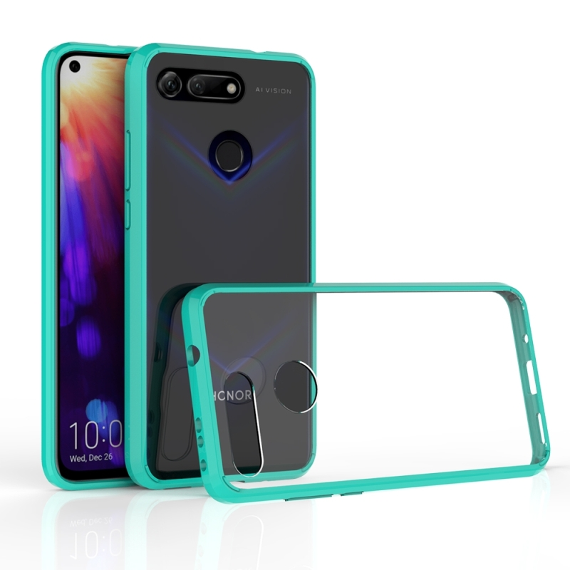 Scratchproof TPU + Acrylic Protective Case for Honor V20(Green)