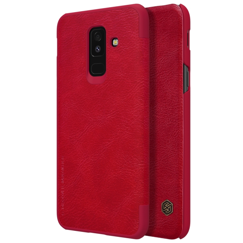 NILLKIN Crazy Horse Texture Horizontal Flip Leather Case for Galaxy A6+ (2018), with Card Slot (Red) (NILLKIN)