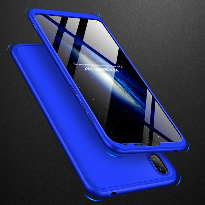 GKK Three Stage Splicing Full Coverage PC Case for Huawei Y7 Pro (2019) (Blue) (GKK)