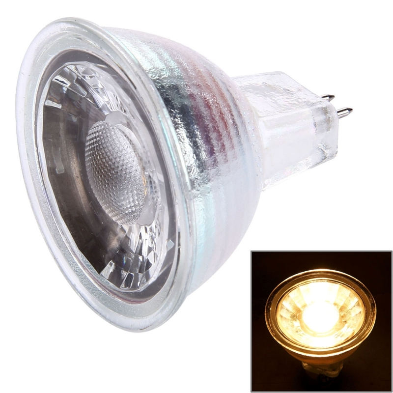 MR16 5W Warm White Light Quartz Spotlight Bulb, 350 LM 1 LED, 220V
