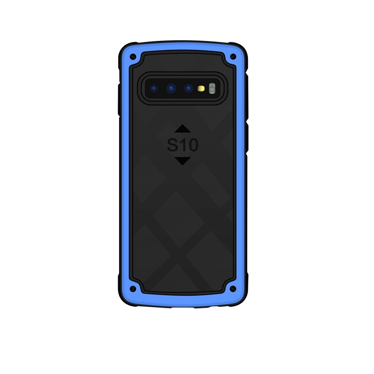 Shockproof PC + TPU Case for Galaxy S10+ (Blue)
