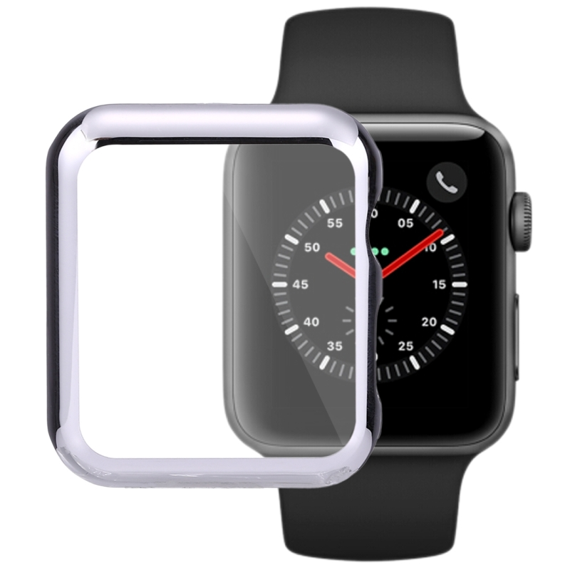 For Apple Watch Series 3 & 2 42mm PC Transparent Watch Protective Shell Case (Silver)