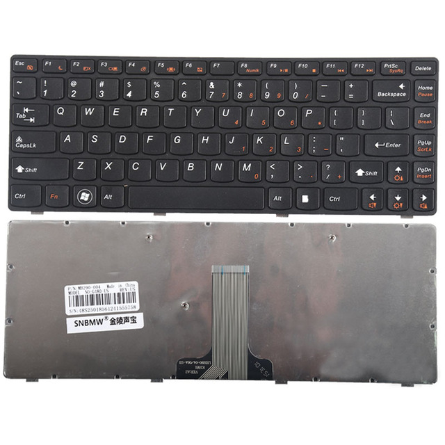 Πληκτρολόγιο Laptop Lenovo G480 G480A G485 G485A G485G Z380 Z480 Z485 25202032 MP-10A23GR-6866 FLEX14A s410p FLEX14g 14D G405A G405AM G405G G480 G485 Z380 Z480 Z485 English Keyboard (Κωδ.40198US)