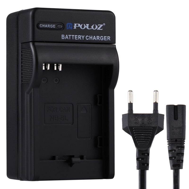 PULUZ EU Plug Battery Charger with Cable for Canon NB-5L Battery (PULUZ)