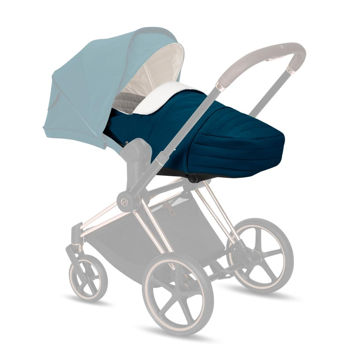 Cybex Μαλακό Πορτ Μπεμπέ Lite Cot Platinum Edition, Mountain Blue