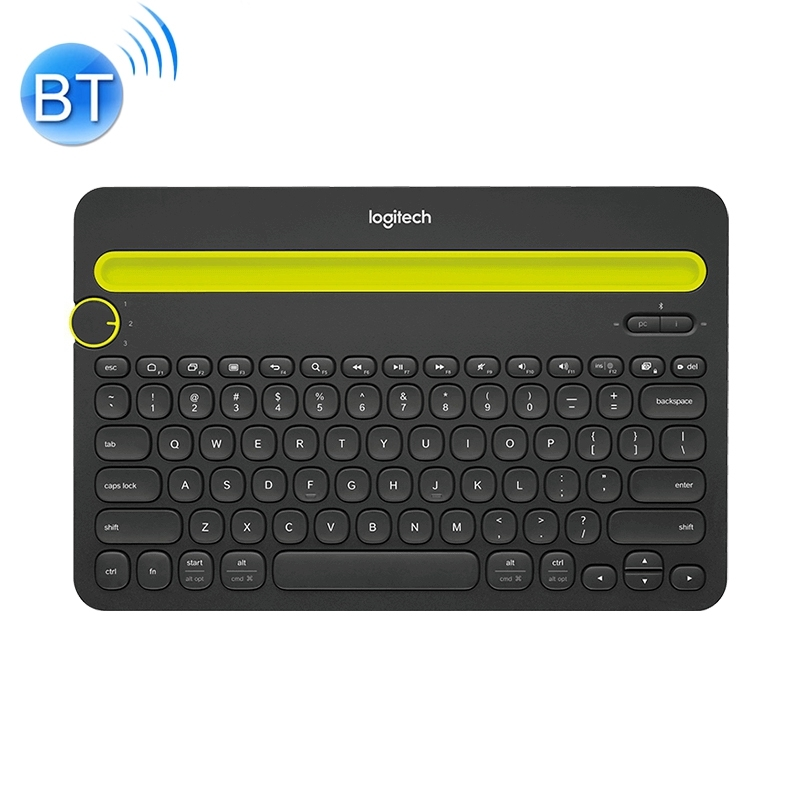 Logitech K480 Multi-device Bluetooth 3.0 Wireless Bluetooth Keyboard with Stand (Black) (Logitech)