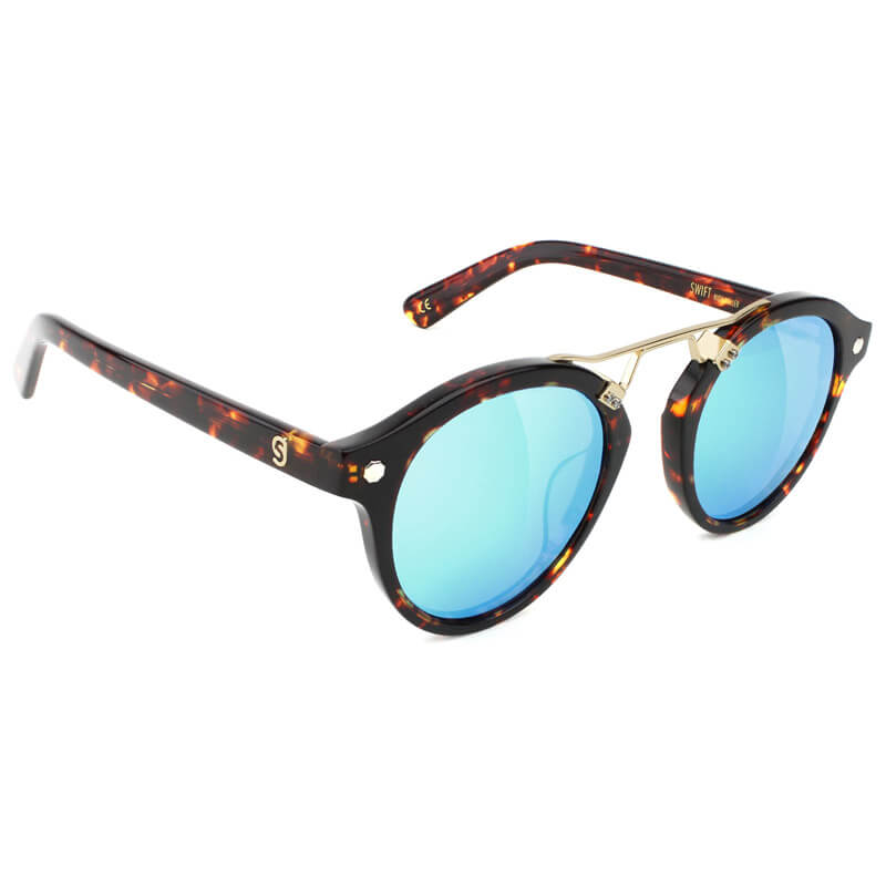 98bbd9f6bfea Glassy Sunhaters USA   Swift High Roller Tortoise-Blue Polarized