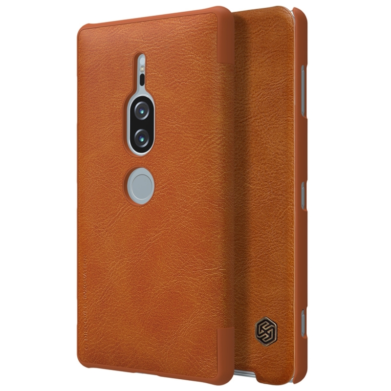 NILLKIN Crazy Horse Texture Horizontal Flip Leather Case for Sony Xperia XZ2 Premium , with Card Slot (Brown) (NILLKIN)