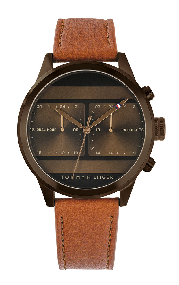 TOMMY HILFIGER 1791594 Icon Brown Leather Strap 38de525ceaa