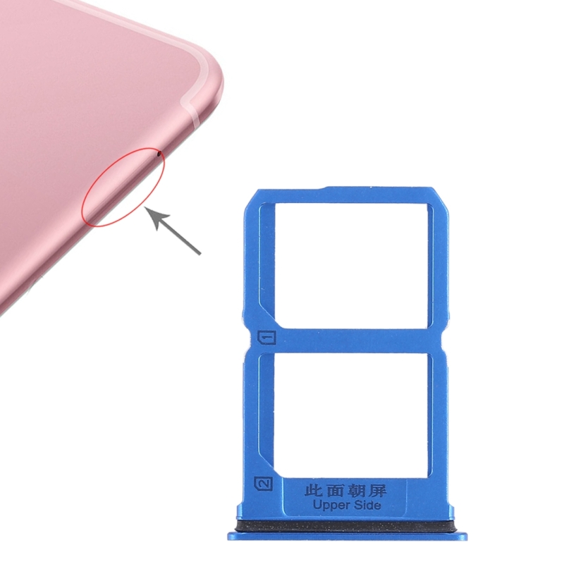 2 x SIM Card Tray for Vivo X9s(Blue)