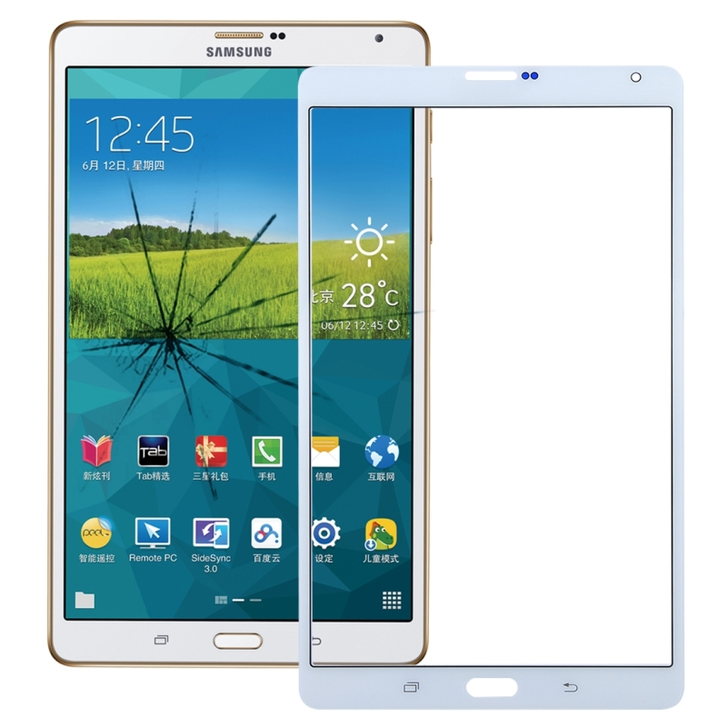 Front Screen Outer Glass Lens for Galaxy Tab S 8.4 LTE / T705(White)