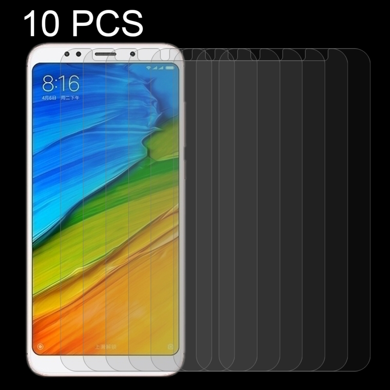 10 PCS Xiaomi Redmi 5 Plus 0.26mm 9H Surface Hardness 2.5D Curved Edge Tempered Glass Screen Protector
