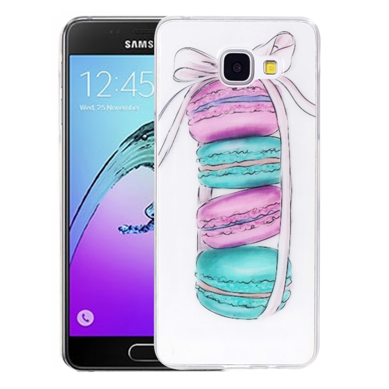 For Galaxy A3 (2016) / A310 Macarons Pattern IMD Workmanship Soft TPU Protective Case