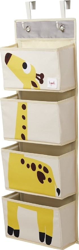 3 Sprouts Hanging Wall Organizer 4 Cases Giraffe IWOGRF