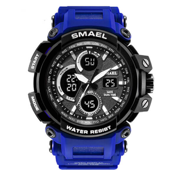 SMAEL 1708 Sports Watch Military Dual Display - Blue