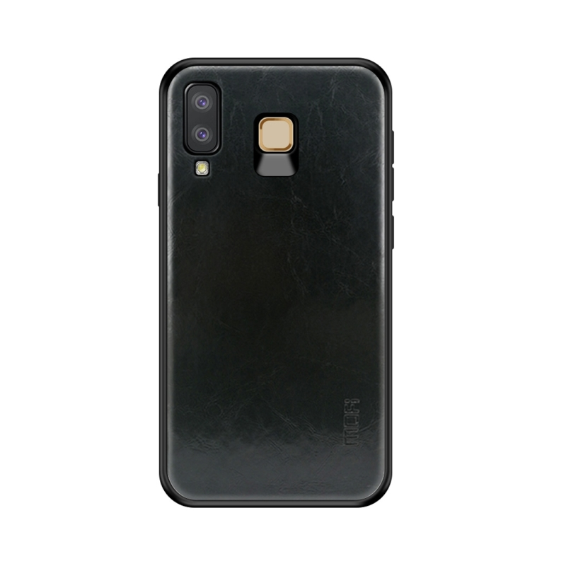 MOFI Shockproof TPU + PC + Leather Pasted Case for Galaxy A8 Star / A9 Star (Black) (MOFI)