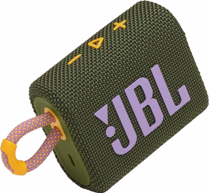 JBL Go 3 Waterproof Wireless Speaker. Green