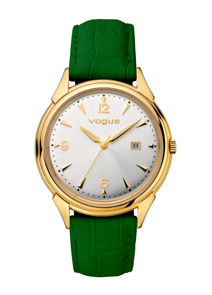 VOGUE Back to 50 s Gold Green Leather Strap 70301.3 799e3ab4ec9