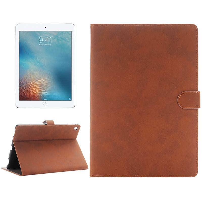 Vintage Style Horizontal Flip Leather Case with Holder for iPad Pro 9.7 inch(Brown)
