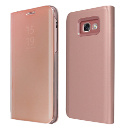 ΘΗΚΗ BOOK OKKES ® Milo Mirror for Samsung A320F Galaxy A3 2017 Pink