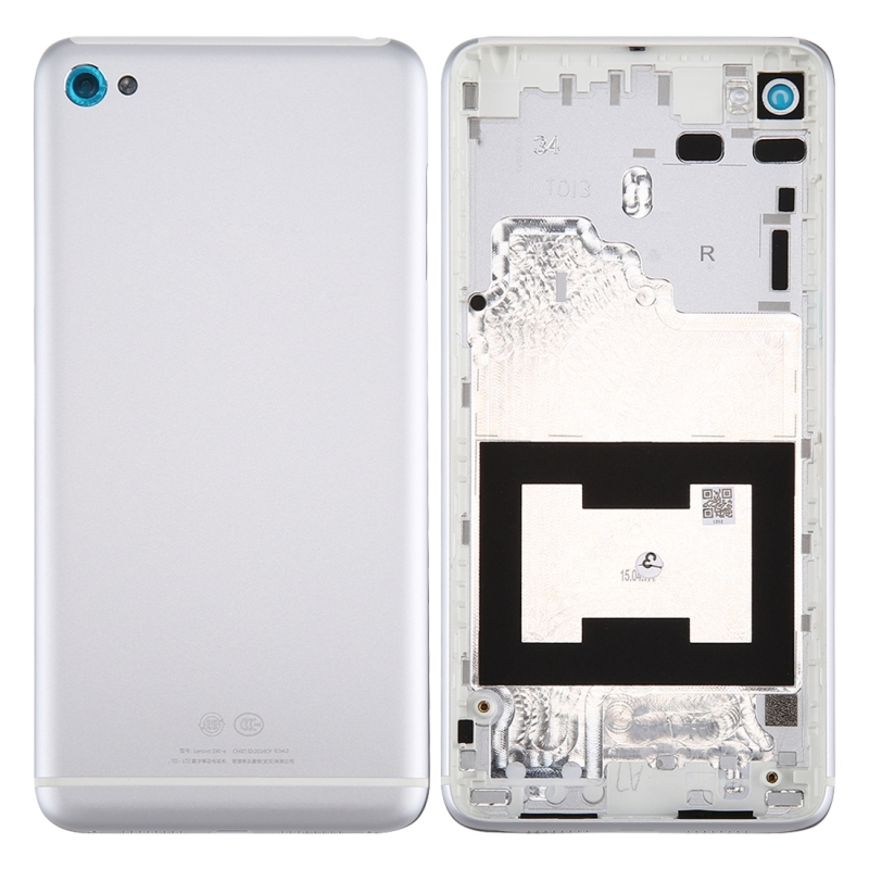 For Lenovo S90 Aluminum Alloy Battery Back Cover(Silver)