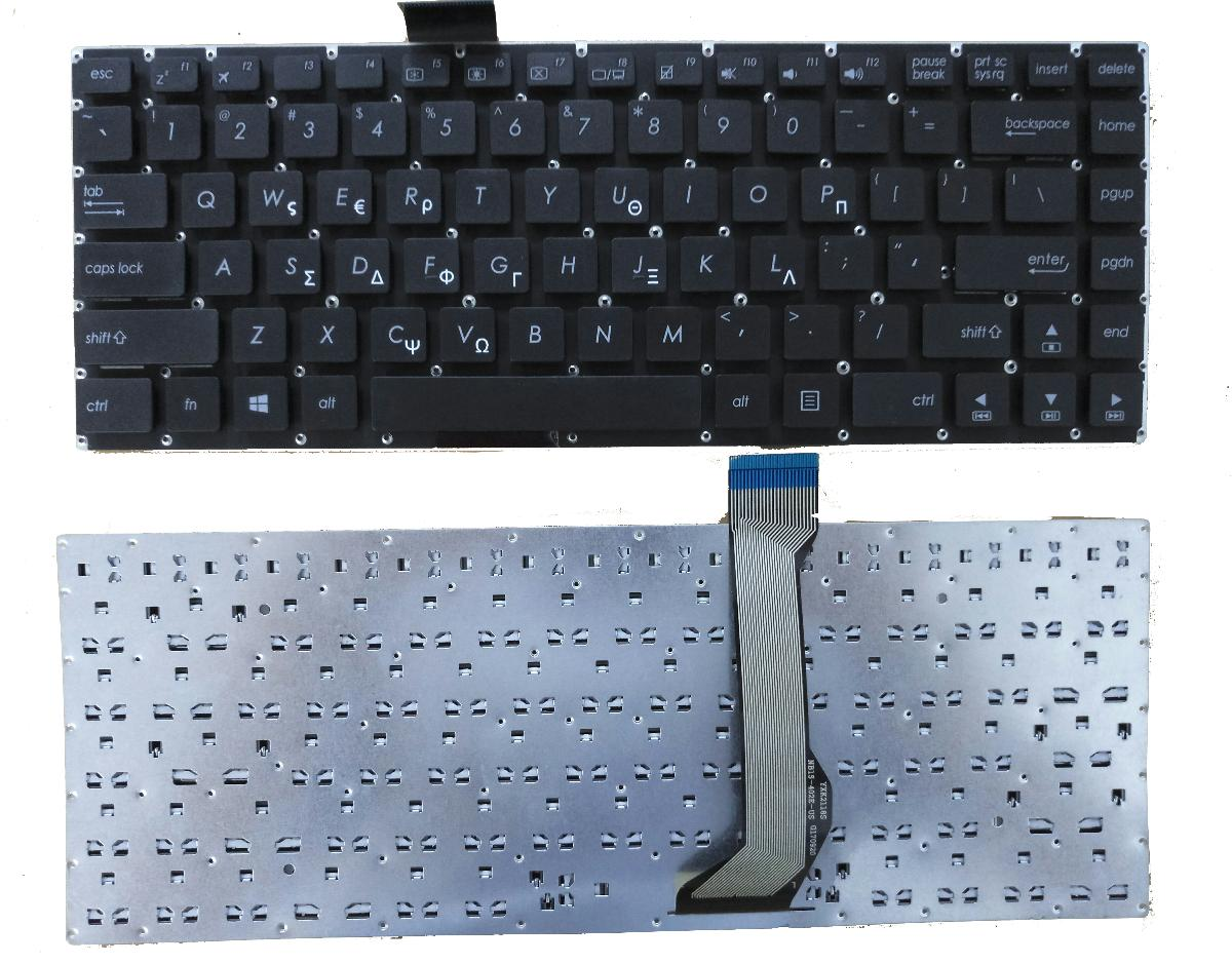 Πληκτρολόγιο Laptop Ελληνικό - Greek Keyboard for ASUS E402 E402M E402MA E402SA E402S E403SA E402N (Κωδ.40436GR)
