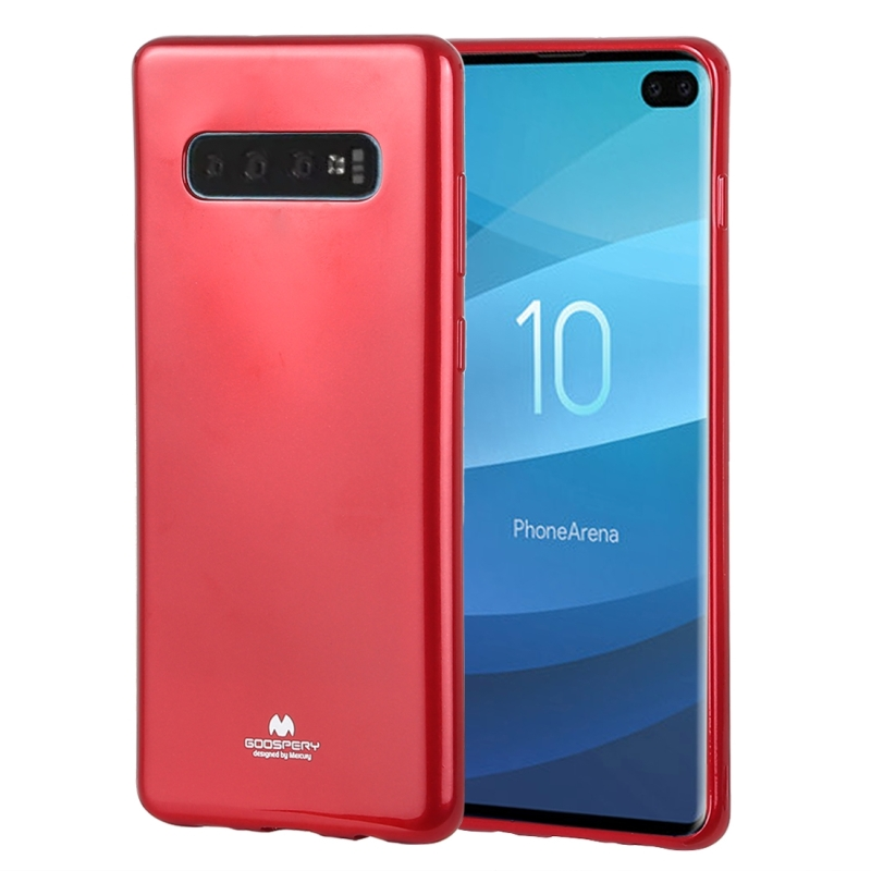 GOOSPERY PEARL JELLY TPU Anti-fall and Scratch Case for Galaxy S10+ (Red) (GOOSPERY)