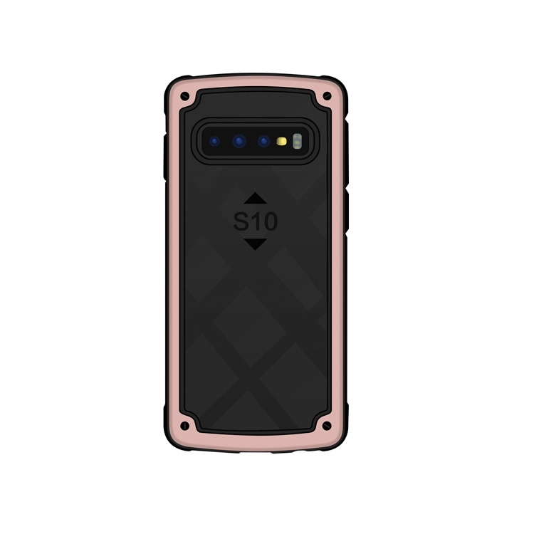 Shockproof PC + TPU Case for Galaxy S10+ (Rose Gold)