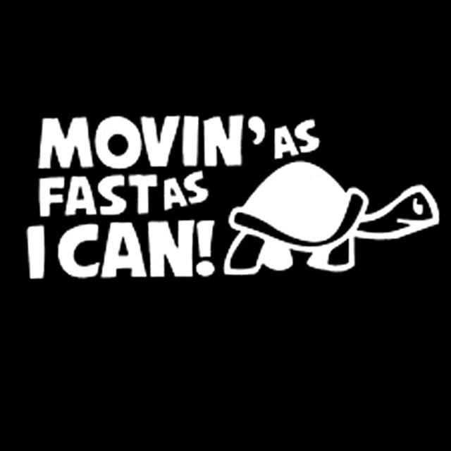 10 PCS Moving As Fast as I Can Pattern Reflective Decal Car Sticker, Size: 14.8x6cm(Silver)