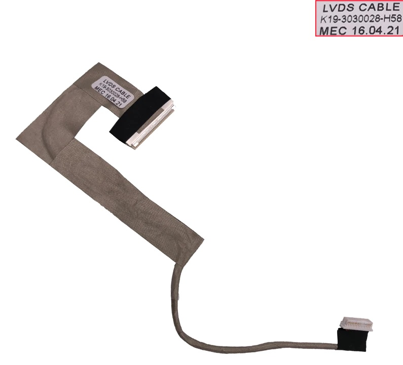 Kαλωδιοταινία Οθόνης-Flex Screen cable Advent 4211 MSI U100 U90 PN: K19-3030019-H58 K19-3030028H58009 K19-3030028-H58 Video Screen Cable (Κωδ. 1-FLEX0571)
