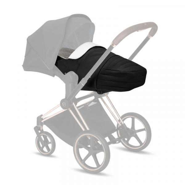 Cybex Μαλακό Πορτ Μπεμπέ Lite Cot Platinum Edition, Deep Black
