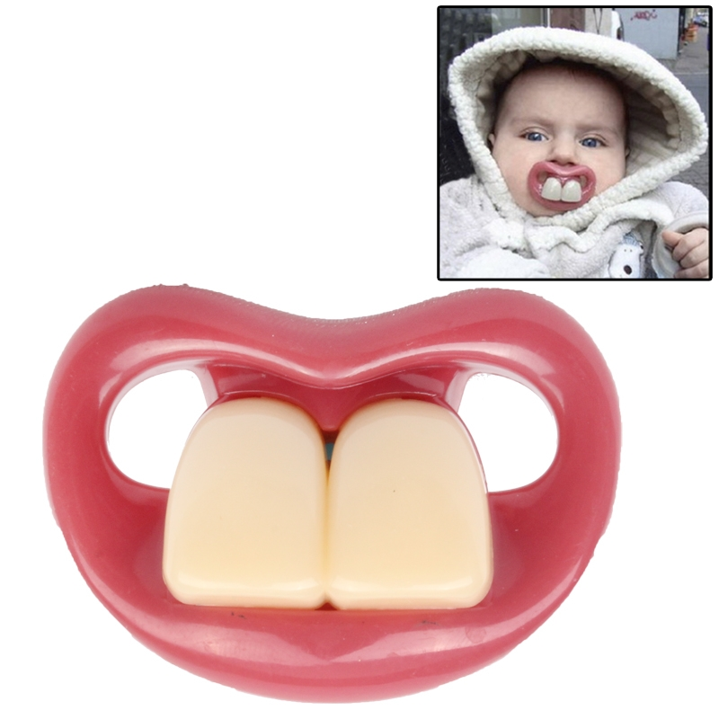 Safe Funny Two Front Teeth Silicone Baby Nipple