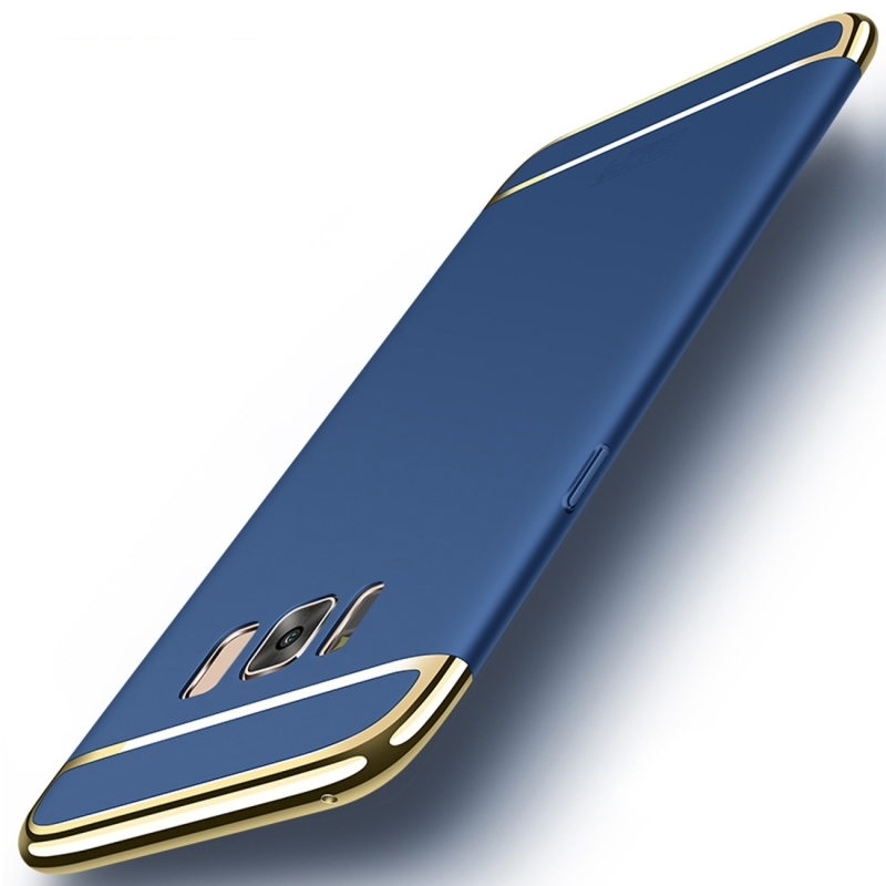 MOFi for Galaxy S8+ / G9550 Three - paragraph Shield Full Coverage Protective Case Back Cover(Blue) (MOFI)