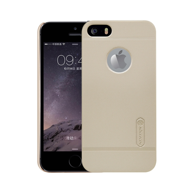 NILLKIN Frosted Shield for iPhone 5 & 5s & SE Concave-convex Texture PC Protective Case Back Cover(Gold) (NILLKIN)