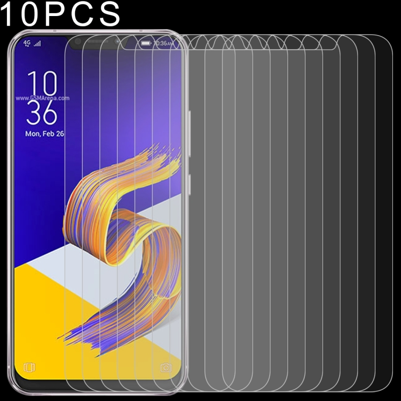 10 PCS 0.26mm 9H 2.5D Tempered Glass Film for Asus Zenfone 5z ZS620KL