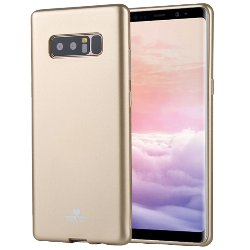 GOOSPERY PEARL JELLY Series for Galaxy Note 8 TPU Full Coverage Protective Back Cover Case (Champagne Gold)