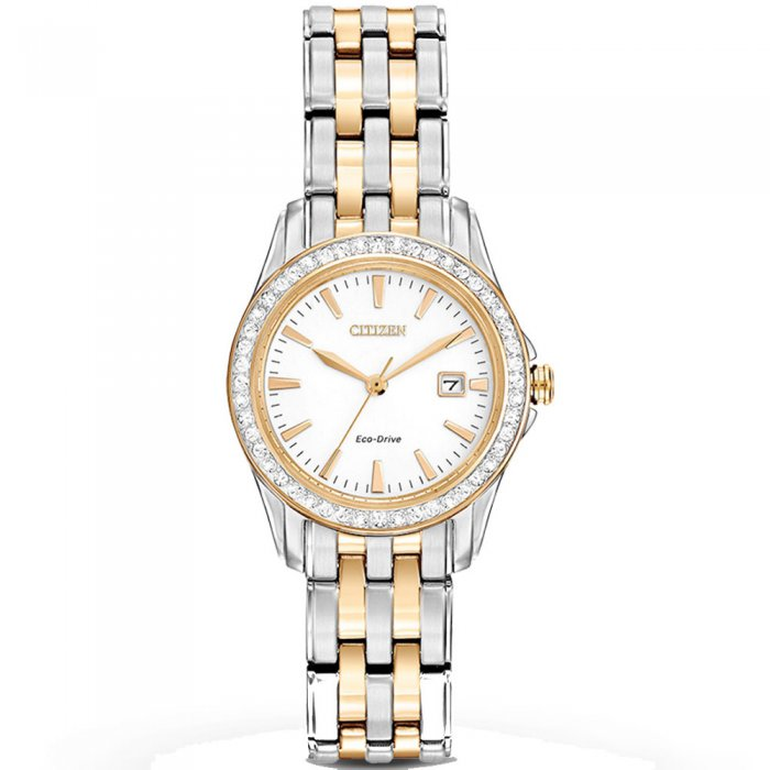 Ρολόι CITIZEN Silhouette Eco Drive Two Tone Stainless Steel Bracelet  EW1908-59A e-jewels.gr d6b3942fef7