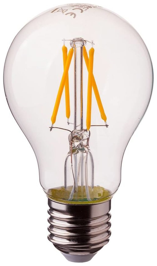 LED V-TAC Λάμπα Ε27 4W (A60) Cross Filament Dimmable Θερμό Λευκό 2e56711ff45