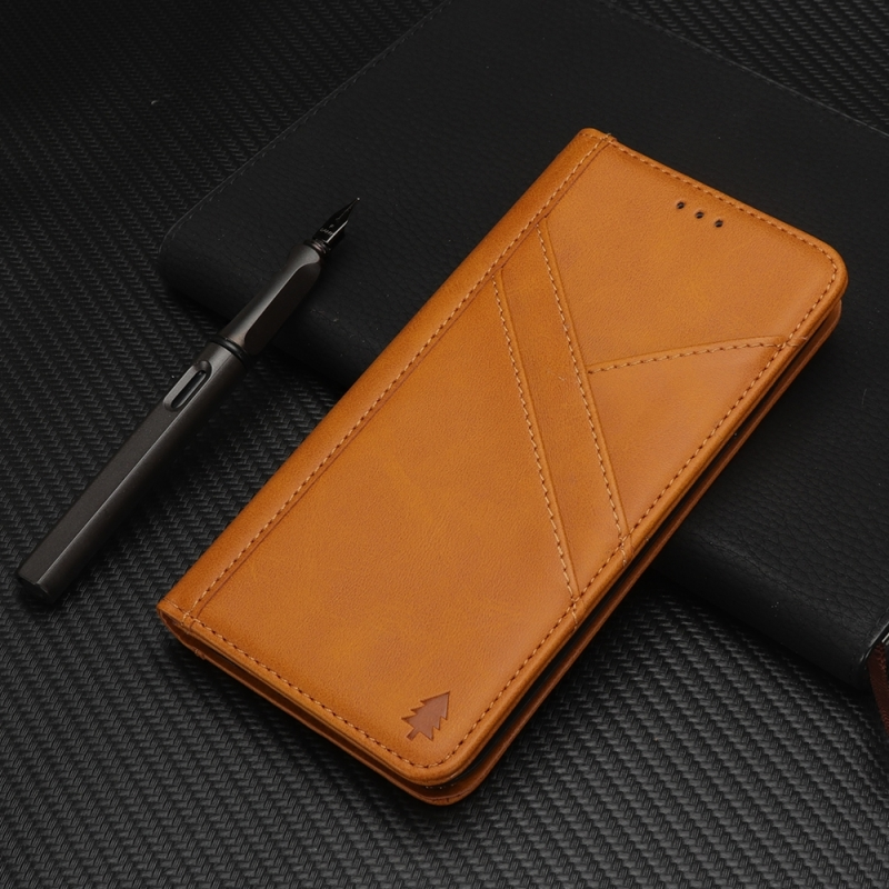 Splicing Horizontal Flip PU Leather Case for iPhone XR, with Holder & Card Slots & Wallet & Photo Frame(Light Brown)
