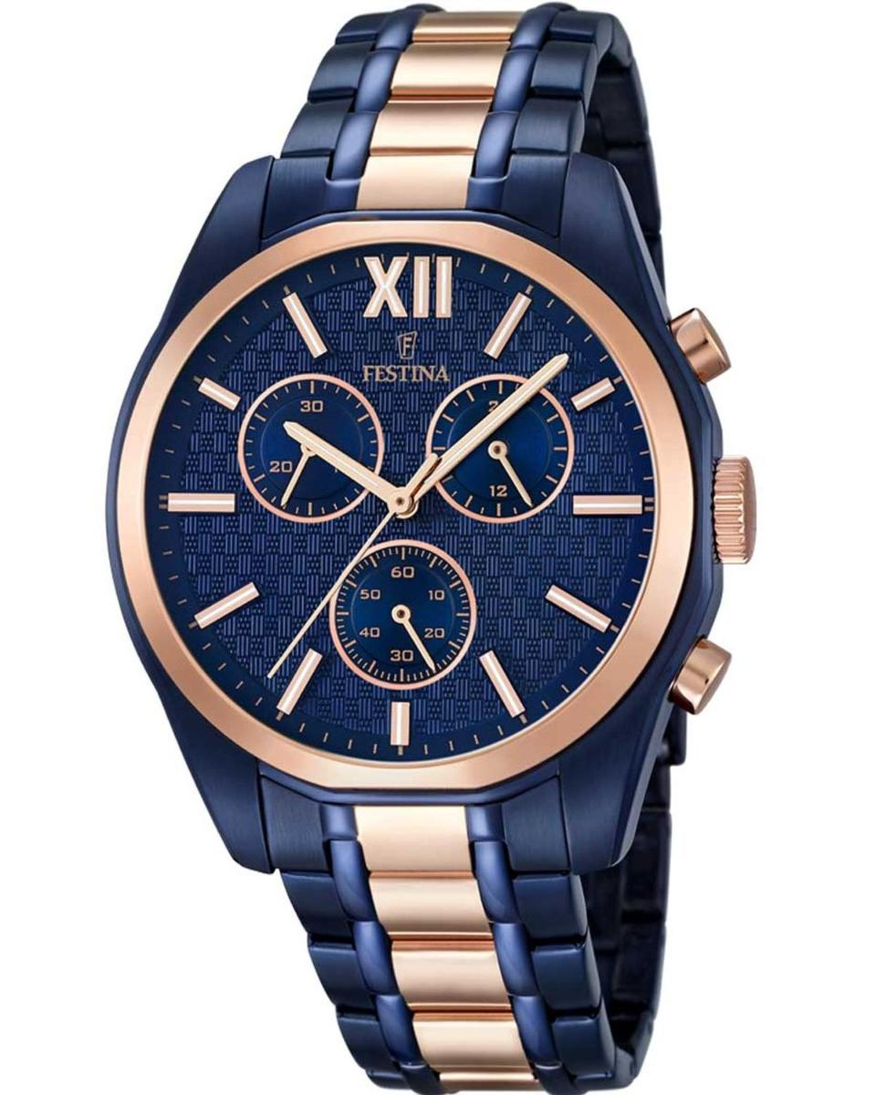 Trussardi Αντρικό Ρολόι My Time Stainless Steel Case Blue Leather ... 3e01a8ec99c