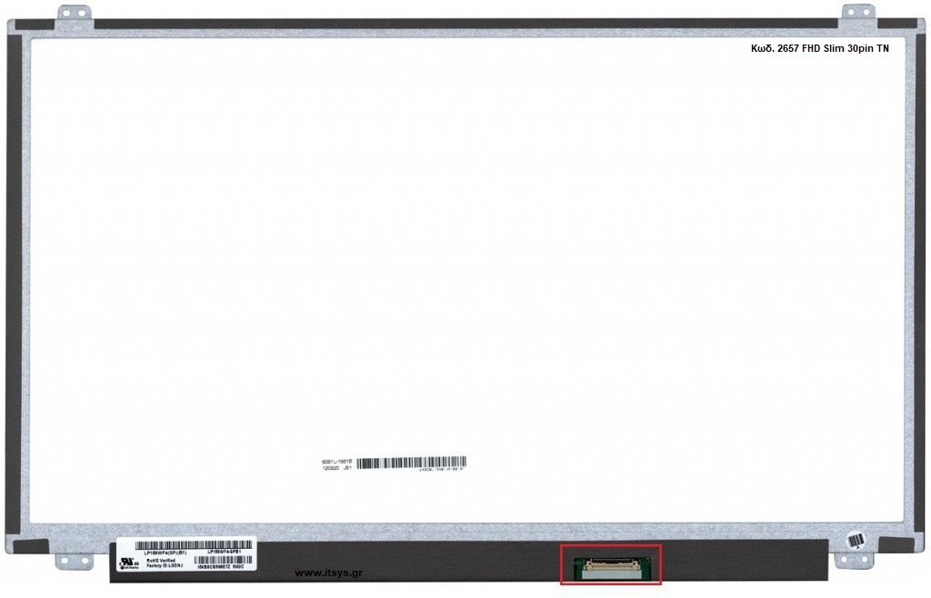 Οθόνη Laptop screen5D10J45878 5D10J45879 5D10K93434 5D10K93435 5D10L08702 ASUS R540YA-DM Acer Extensa 2520 15.6 1920x1080 WUXGA FHD LED 30pin EDP Slim (Κωδ. 2657)