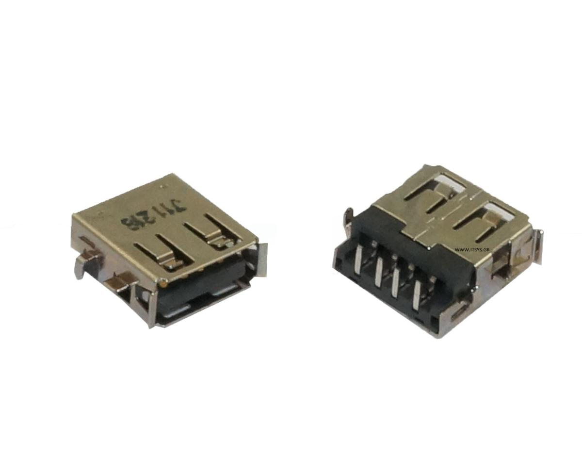 Bύσμα USB Laptop - Acer Aspire E5-771G-560N USB 2.0 Female Jack Socket Port Connector (Κωδ.1-USB048)