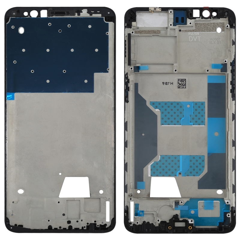 For OPPO R11s Front Housing LCD Frame Bezel Plate(Black)