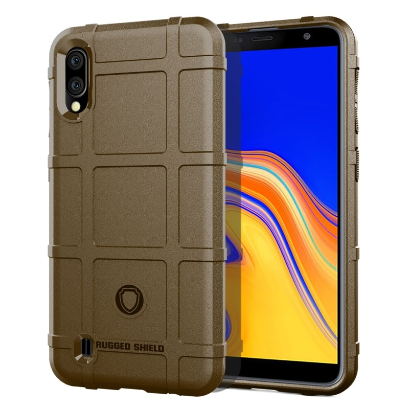 Full Coverage Shockproof TPU Case for Galaxy A10 (Brown)
